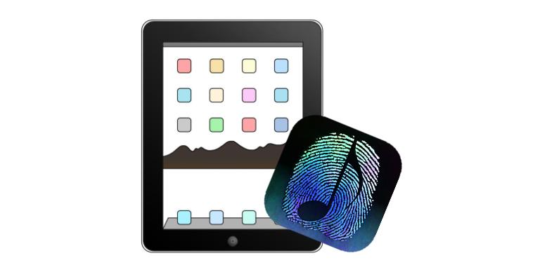 Image of ThumbJam logo over iPad