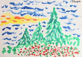 Trees of Green - artwork from participant