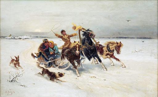 a russian troika sled